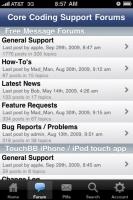 TouchBB Forum Browser - Topics